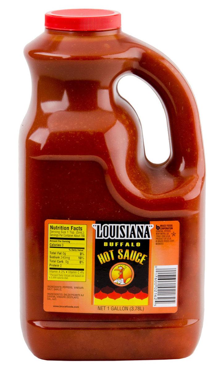 Louisiana Буффало соус острый перечный, 3,78 л121429Louisiana Gold Буффало - острый перечный соус, лучшая приправа к блюдам из мяса, птицы, морепродуктов. Может использоваться как ингредиент для приготовления, маринад.
