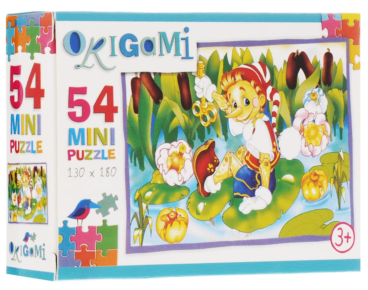 Оригами Пазл для малышей Буратино