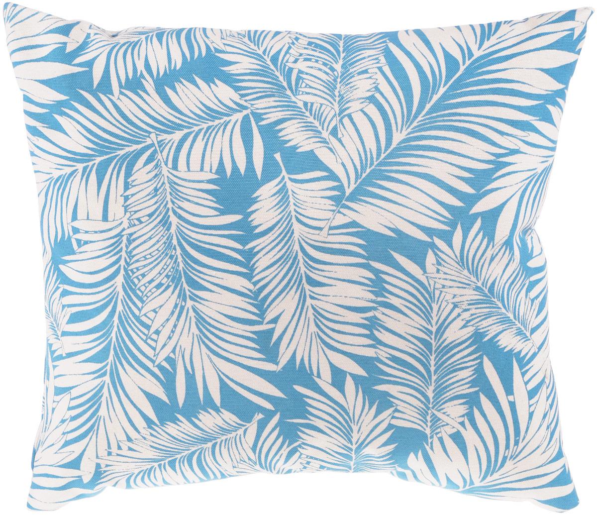 Подушка декоративная KauffOrt Лазурный берег, цвет: голубой, белый, 40 x 40 см3122462140Декоративная подушка Лазурный берег прекрасно дополнит интерьер спальни или гостиной. Очень нежный на ощупь чехол подушки выполнен из 75% хлопка и 25% полиэстера. Внутри находится мягкий наполнитель. Чехол легко снимается благодаря потайной молнии. Красивая подушка создаст атмосферу уюта и комфорта в спальне и станет прекрасным элементом декора.