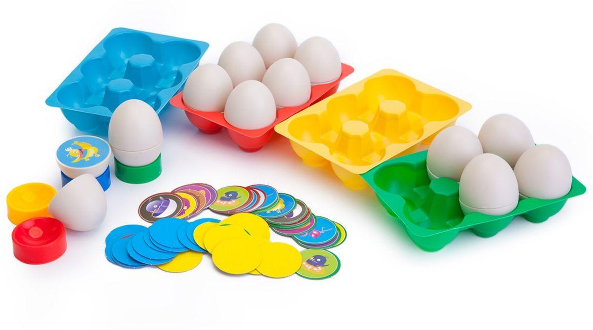 Bradex Игра настольная Кто в яйцеDE 0145Динамичная и захватывающая игра для детей от 5 лет и взрослых. Необходимо максимально быстро найти 2 половинки одного яйца и таким образом собрать комплект фишек своего цвета. Подходит для одновременной игры 2-4 человек. Развивает ловкость, память и внимательность. Материал: пластик, картон.