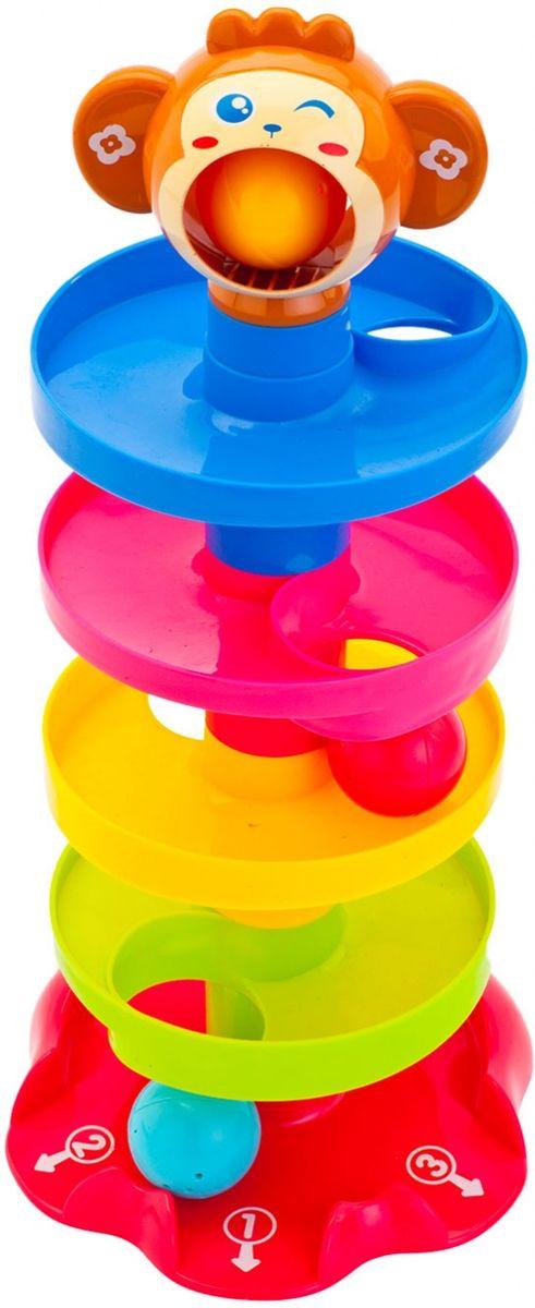 Bradex Игрушка детская Пирамидка с шарикамиDE 0214Развивающая игрушка в виде пирамидки состоит из шести частей, которые легко собираются в единую башенку. Пирамидка служит горкой-лабиринтом для трех разноцветных мячиков-погремушек, помогает развивать мелкую моторику и внимательность, изучение цветов и счет. Предназначена для детей в возрасте от 2 до 4 лет.