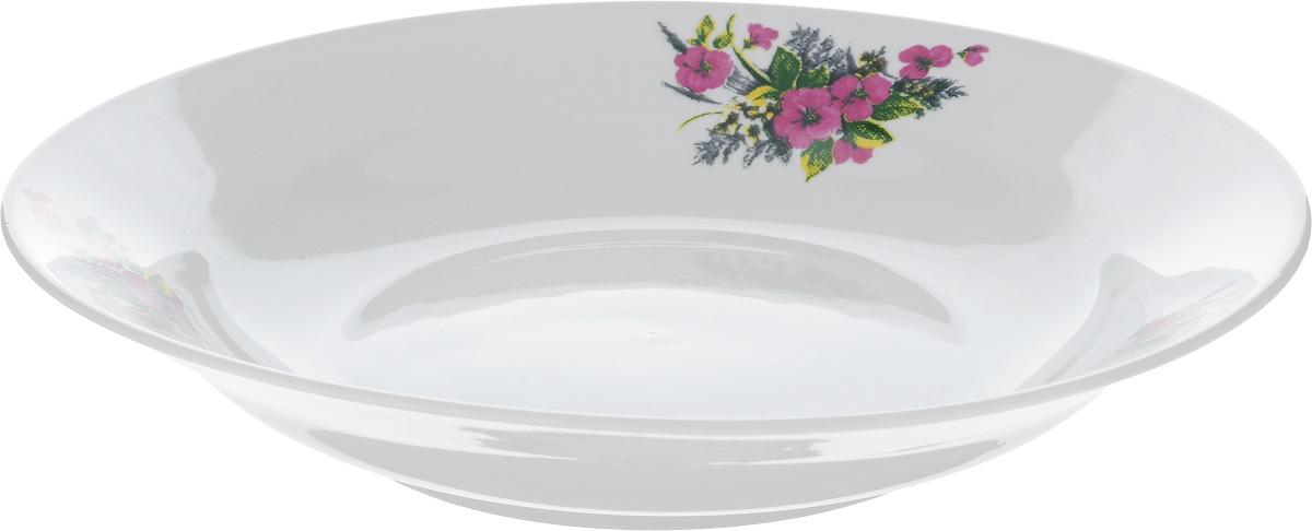 Тарелка глубокая Фарфор Вербилок Виола, диаметр 23 см22600750Тарелка Фарфор Вербилок Виола, изготовленная из высококачественного фарфора, имеет классическую круглую форму. Она прекрасно впишется в интерьер вашей кухни и станет достойным дополнением к кухонному инвентарю. Идеально подойдет для подачи супов. Тарелка Фарфор Вербилок Виола подчеркнет прекрасный вкус хозяйки и станет отличным подарком. Диаметр тарелки (по верхнему краю): 23 см. Высота тарелки: 4 см.