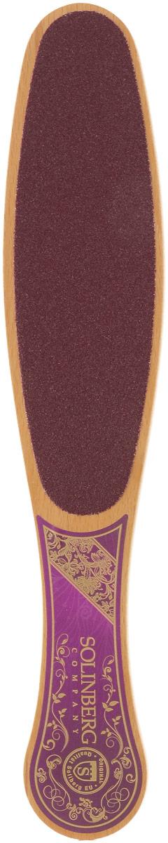 Терка-наждак для ног Solinberg, 60/120. 261-2733261-2733Двусторонняя терка-наждак для ног Solinberg с удобной деревянной ручкой предназначена для удаления натоптышей. Подходит как для профессионального использования, так и для ухода в домашних условиях. Зерно 60/120 - подходит для первичной обработки грубой кожи ног, эффективно удаляет ороговелости. Терку-наждак можно использовать для сухого и влажного педикюра.