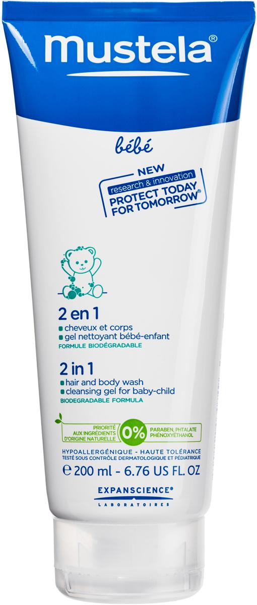 Mustela Гель-шампунь для головы и тела 2 в 1, 200 мл27128/030749Гель-шампунь детский 2 в 1 Mustela разработан для мягкого очищения кожи и волос детей с первых дней жизни. Разработан для минимизации рисков аллергических реакций. Благодаря формуле, обогащенной запатентованным природным компонентом Avocado Perseose, способствует укреплению кожного барьера малыша и сохранению клеточных ресурсов его кожи Мягко и эффективно очищает кожу и волосы малыша с первых дней жизни. Не содержит мыла. Hе щиплет глаза. Без парабенов, фталатов, феноксиэтанола. Приоритет отдается ингредиентам природного происхождения Биоразлагаемая формула.