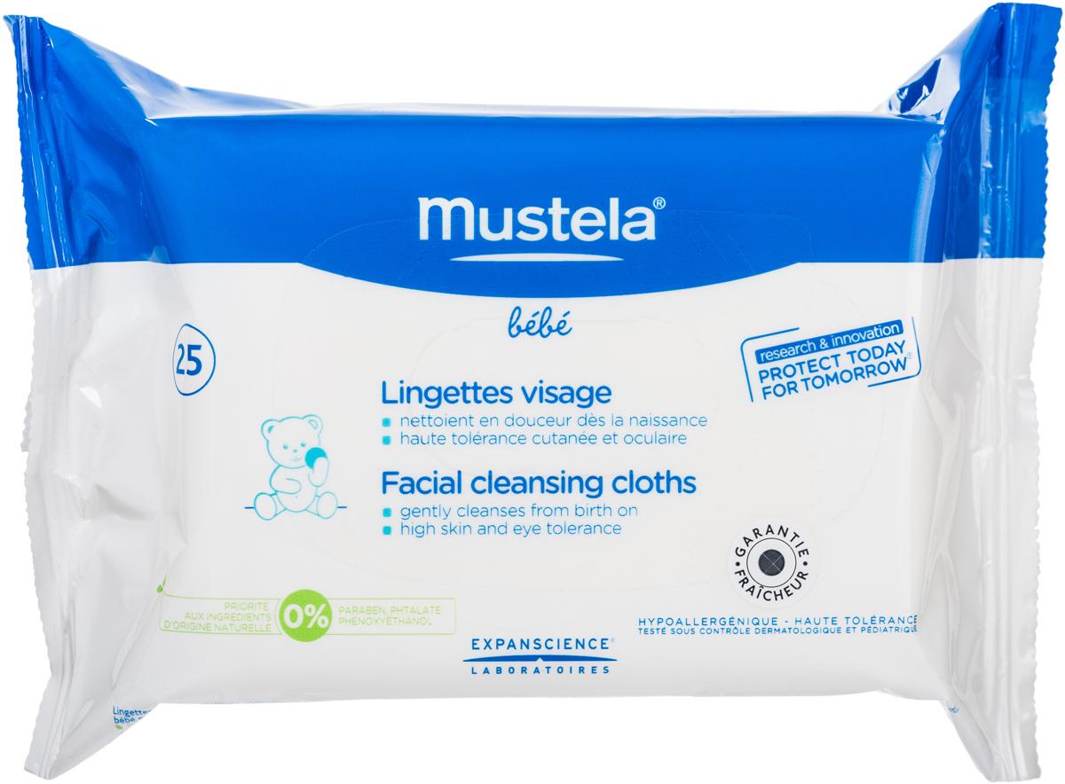 Mustela Очищающие салфетки для лица №25М015/G856Назначение: Для мягкого очищения кожи малыша с рождения. Свойства: Очищающие салфетки для лица гипоаллергенны и имеют нежный аромат. Разработаны для использования с рождения. Бережно очищают кожу лица, оставляя ее мягкой и увлажненной. Не раздражают глазки. Не содержат спирт. Инструкция по использованию: Достаньте салфетку и аккуратно протрите лицо малыша. Делайте это так часто, как это необходимо. После использования хорошо закройте упаковку. Не требует смывания.