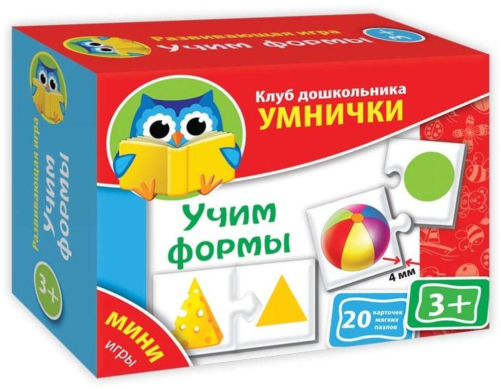 Vladi Toys Обучающая игра Учим формыVT1309-01Обучающая игра Vladi Toys Учим формы содержит соединяющиеся пазловыми замками карточки на тему, которую ребенок должен освоить в определенном возрасте. Карточки выполнены из мягкого вспененного материала.