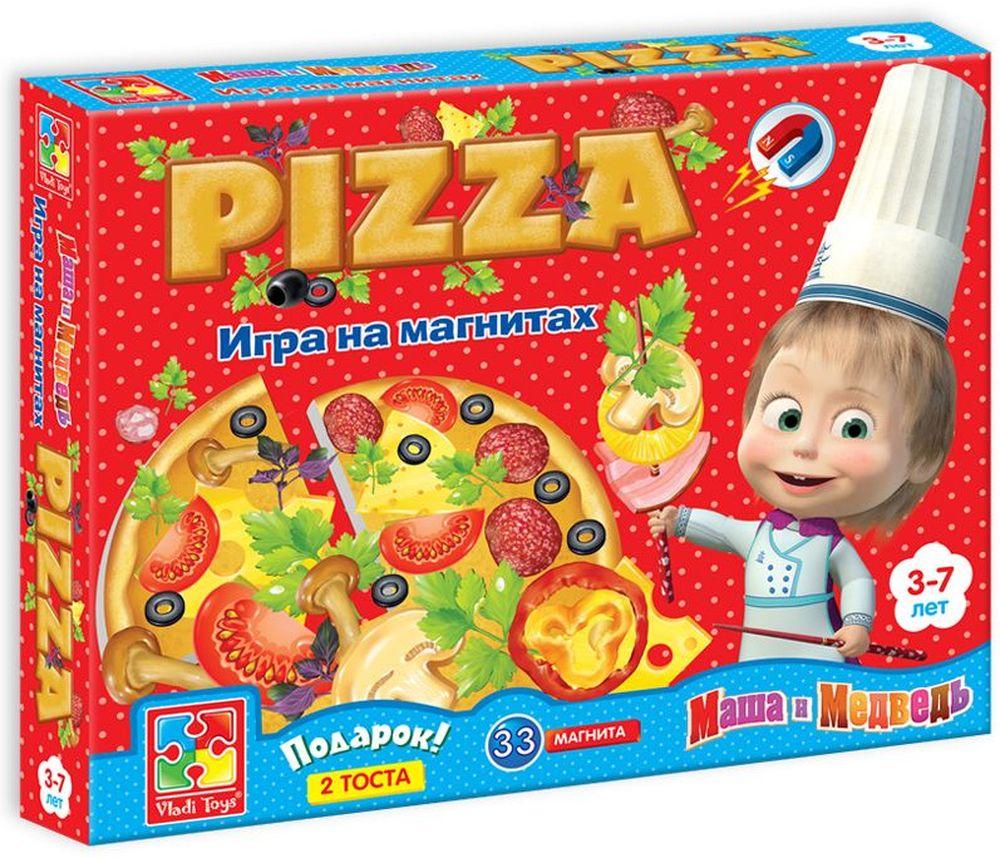 Vladi Toys Обучающая игра ПиццаVT3003-02Обучающая игра Vladi Toys Пицца представляет собой набор мягких магнитов. В наборе 4 основы пиццы + 2 тоста, 33 мягких магнита.