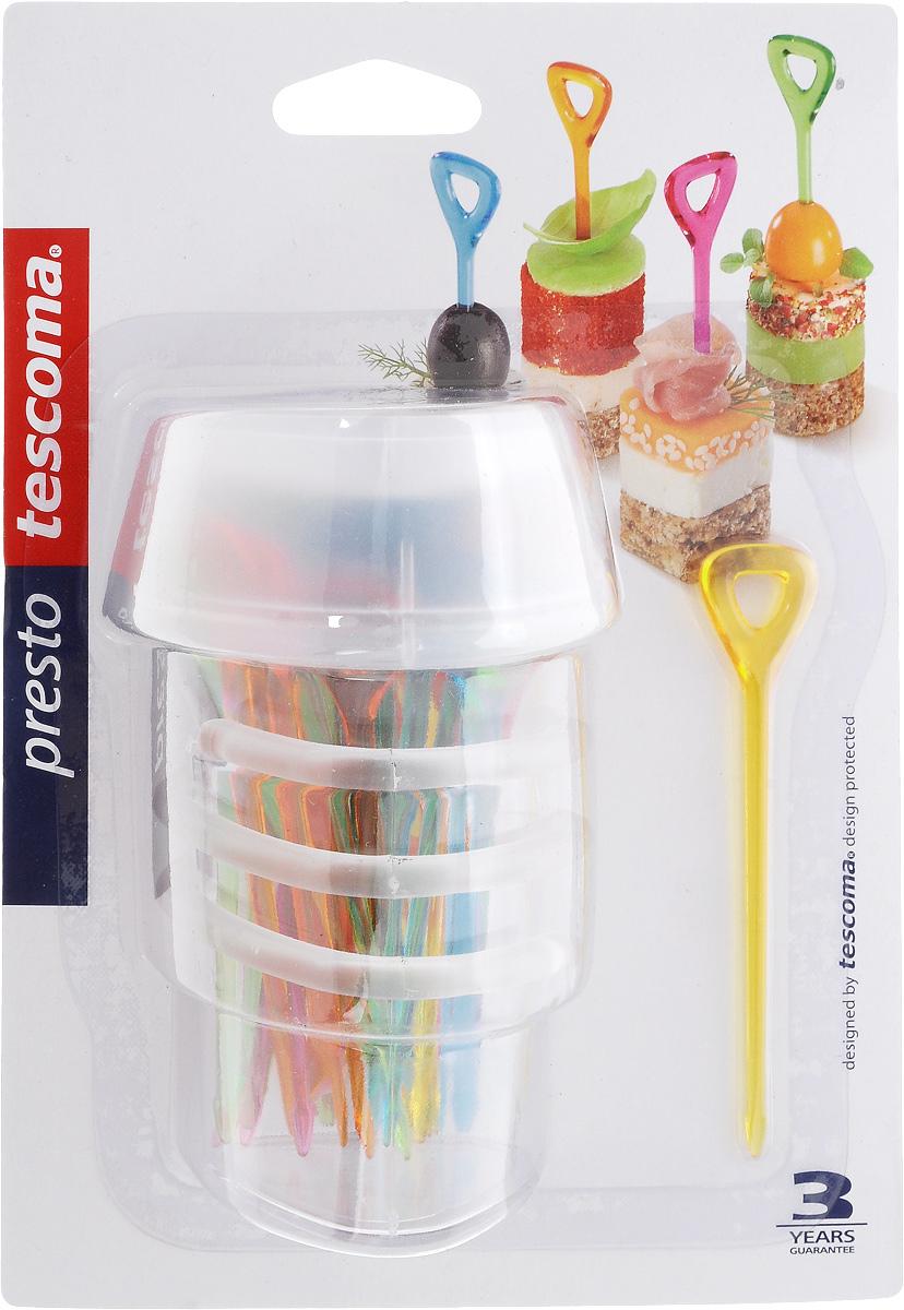 Набор шпажек Tescoma Presto. Party, с держателем, 30 шт420985Шпажки Tescoma Presto. Party отлично подходят для сервировки канапе, фруктов, овощей и других блюд. Изделия выполнены из прочного пластика. Для удобного использования в комплекте предусмотрен держатель для шпажек. Можно мыть в посудомоечной машине. В набор входят 30 шпажек. Длина шпажек: 9,2 см.