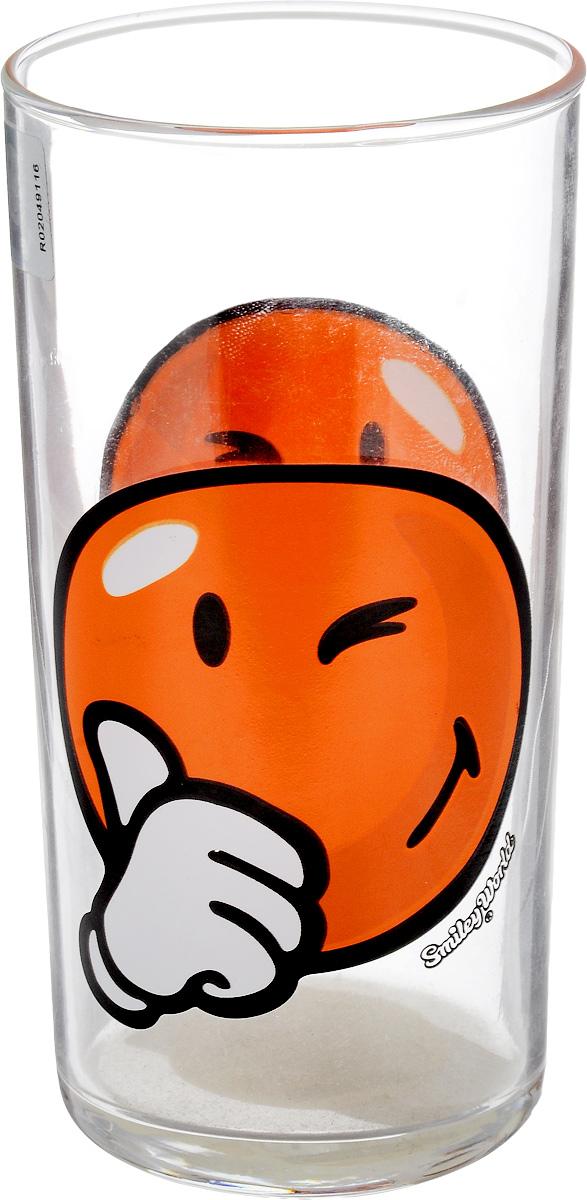 Стакан Luminarc Happy Smiley World, 270 мл. H4442H4442_оранжевый/подмигиваетСтакан Luminarc Happy Smiley World изготовлен из высококачественного стекла. Такой стакан прекрасно подойдет для различных напитков. Он дополнит коллекцию вашей кухонной посуды и будет служить долгие годы. Можно использовать в посудомоечной машине и СВЧ. Диаметр стакана (по верхнему краю): 6 см. Высота: 12 см.