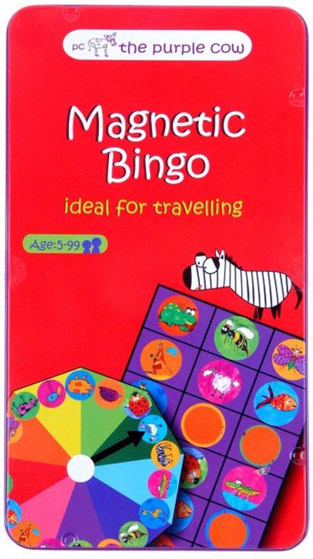 The Purple Cow Обучающая игра Magnetic Bingo026061Обучающая игра The Purple Cow Magnetic Bingo - это детская версия известной игры. Основное отличие заключается в том, что вместо цифр используются изображения животных. Это позволит даже самому маленькому игроку принимать активное участие в игре.