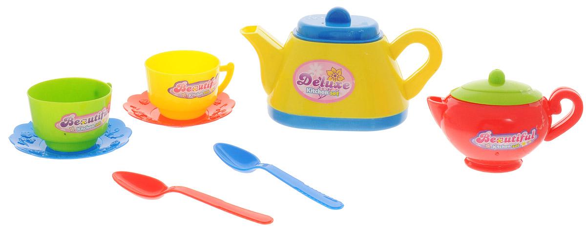 ABtoys Кухонный набор Помогаю маме цвет чайника желтый 8 предметов
