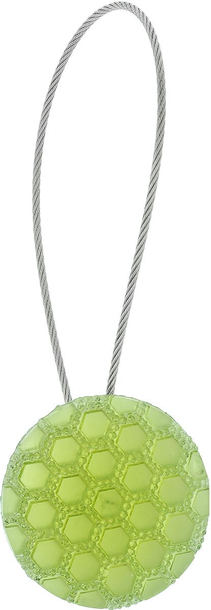 Подхват для штор TexRepublic Ajur. Tross, на магнитах, цвет: серебряный, зеленый. 7899678996Изящный подхват для штор TexRepublic Ajur. Tross, выполненный из пластика и металла, можно использовать как держатель для штор или для формирования декоративных складок на ткани. С его помощью можно зафиксировать шторы или скрепить их, придать им требуемое положение, сделать симметричные складки. Благодаря магнитам подхват легко надевается и снимается. Подхват для штор является универсальным изделием, которое превосходно подойдет для любых видов штор. Подхваты придадут шторам восхитительный, стильный внешний вид и добавят уют в интерьер помещения. Длина подхвата: 20 см. Диаметр: 3,5 см.