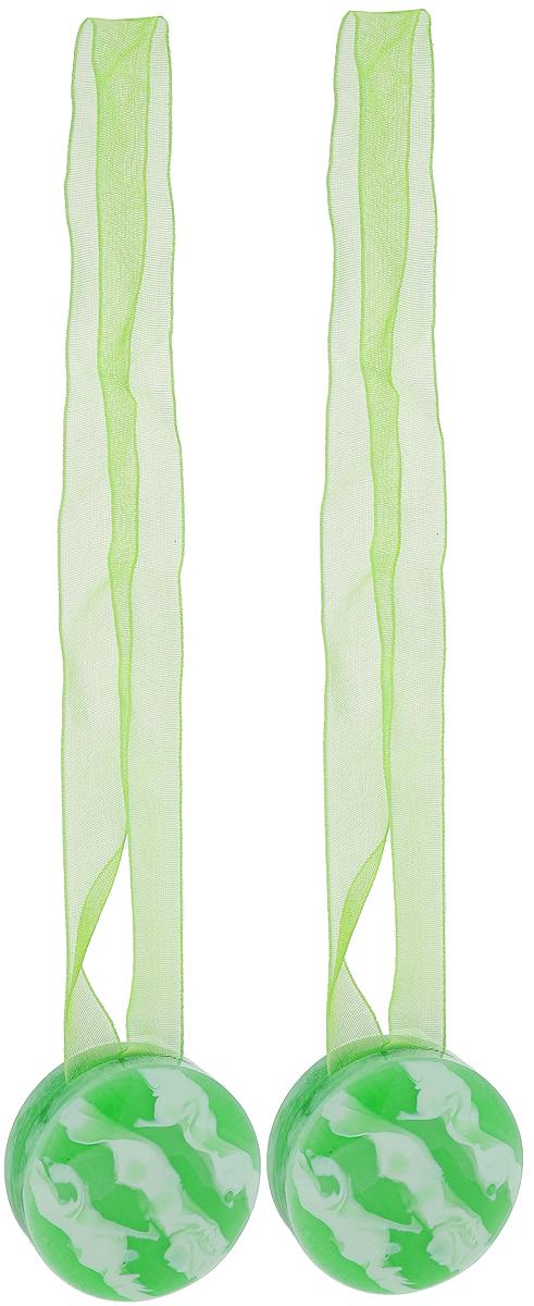 Подхват для штор TexRepublic Ajur. Lenta, на магнитах, цвет: зеленый, диаметр 4 см, 2 шт. 7901979019Изящный подхват для штор TexRepublic Ajur. Lenta, выполненный из пластика и текстиля, можно использовать как держатель для штор или для формирования декоративных складок на ткани. С его помощью можно зафиксировать шторы или скрепить их, придать им требуемое положение, сделать симметричные складки. Благодаря магнитам подхват легко надевается и снимается. Подхват для штор является универсальным изделием, которое превосходно подойдет для любых видов штор. Подхваты придадут шторам восхитительный, стильный внешний вид и добавят уют в интерьер помещения. Длина подхвата: 36 см. Диаметр: 4 см. Количество: 2 шт.
