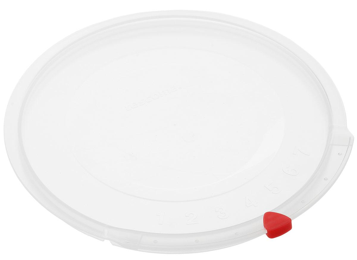 Крышка Tescoma Unicover, диаметр 20 см782820Крышка Tescoma Unicover используется при хранении еды, для закрытия высоких кастрюль, кастрюль и ковшей из нержавеющей стали. Плоская форма крышки позволяет складывать посуду в целях экономии места в холодильнике. Пища, закрытая пластиковой крышкой, не высыхает и не впитывает запахи других продуктов питания. На крышке имеется семидневный датировщик для индикации с первого дня хранения. Изделие выполнено из пластмассового материала, предназначенного для медицинских и фармацевтических целей. Можно мыть в посудомоечной машине. Подходит для кастрюль диаметром 20 см. Диаметр крышки (по верхнему краю): 21,5 см.