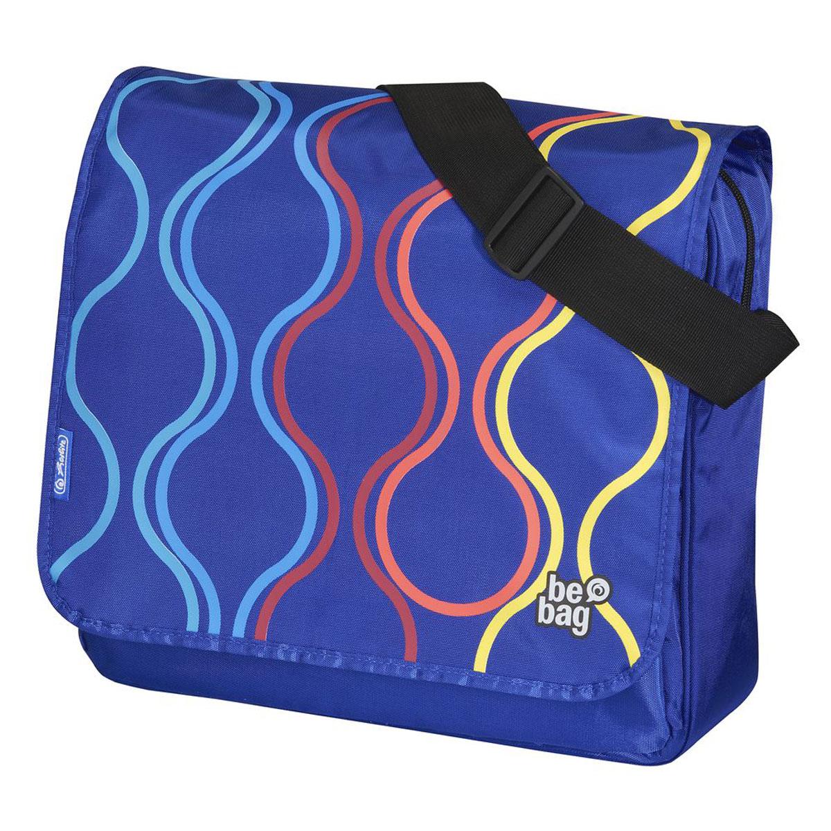 Herlitz Сумка школьная Be Bag Bubbles11359577Прочная и вместительная школьная сумка Herlitz Be Bag. Bubbles смотрится элегантно в любой ситуации. Сумка имеет одно отделение на молнии, которое закрывается сверху откидывающимся клапаном. Клапан на кнопках, съемный. Внутри отделения находятся два открытых сетчатых кармана и потайной карман на молнии. Спереди сумки расположен карман на молнии, содержащий мягкую перегородку, сетчатый карман, небольшой карман на молнии, кармашек с мягкой подкладкой для мобильного телефона и карабин для ключей. Широкая лямка регулируется по длине. Такую сумку можно использовать для повседневных прогулок, учебы, отдыха и спорта, а также как элемент вашего имиджа. Лаконичный и сдержанный дизайн подчеркнет индивидуальность и порадует своей функциональностью.
