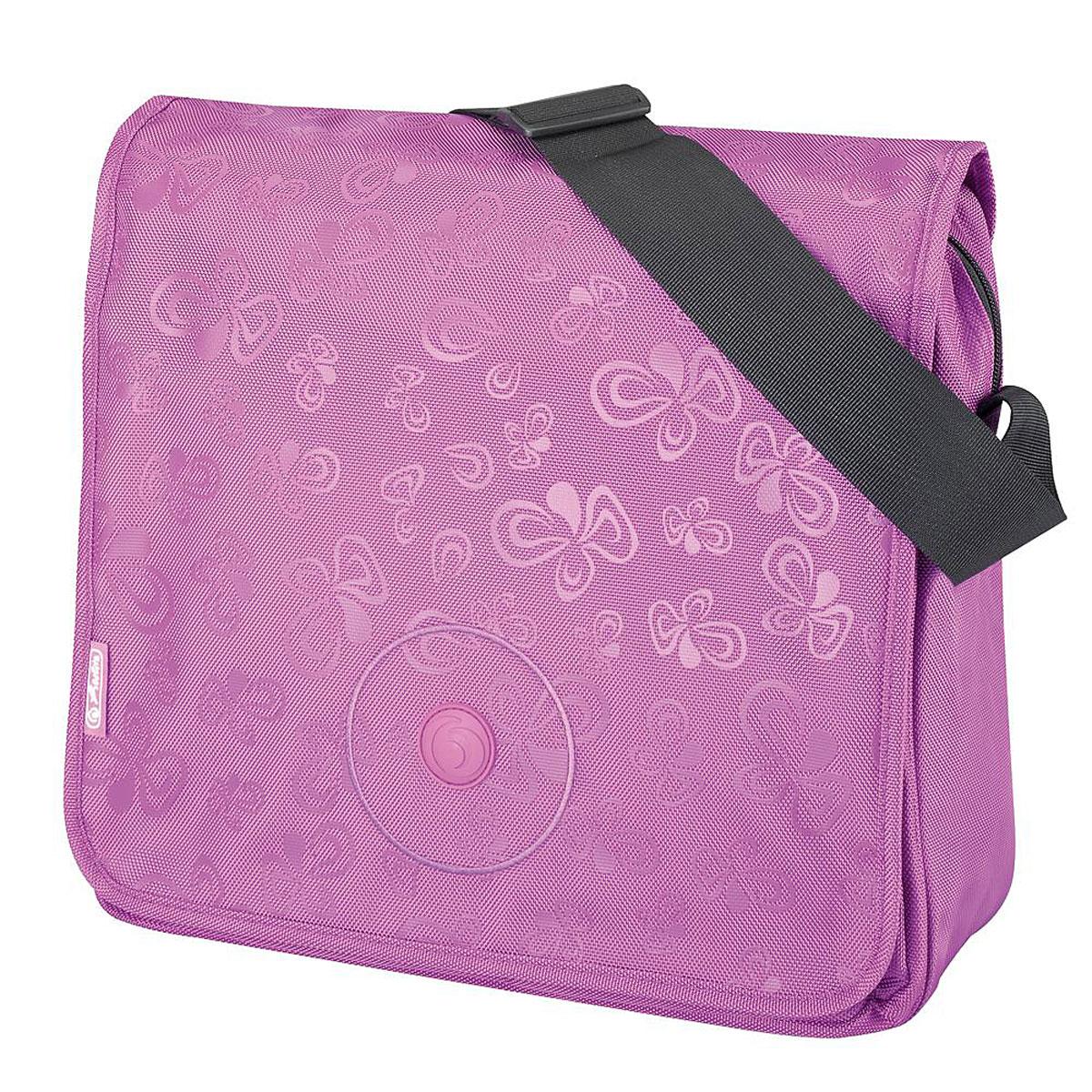 Herlitz Сумка школьная Be Bag Flower Splash Purple11281474Прочная и вместительная школьная сумка Herlitz Be Bag. Flower Splash Purple смотрится элегантно в любой ситуации. Сумка имеет одно отделение, которое закрывается на застежку-молнию и клапан. Внутри отделения находятся два открытых сетчатых кармана и врезной карман на молнии. Под клапаном с лицевой стороны расположен накладной карман на застежке-молнии, внутри которого находятся два открытых кармашка, карман-сетка, карман на застежке-молнии, три кармашка для канцелярских принадлежностей и пластиковый карабин для ключей. Клапан крепится на кнопках, его можно отстегнуть и использовать сумку без него. Широкая лямка регулируется по длине. Такую сумку можно использовать для повседневных прогулок, учебы, отдыха и спорта, а также как элемент вашего имиджа. Лаконичный и сдержанный дизайн подчеркнет индивидуальность и порадует своей функциональностью.