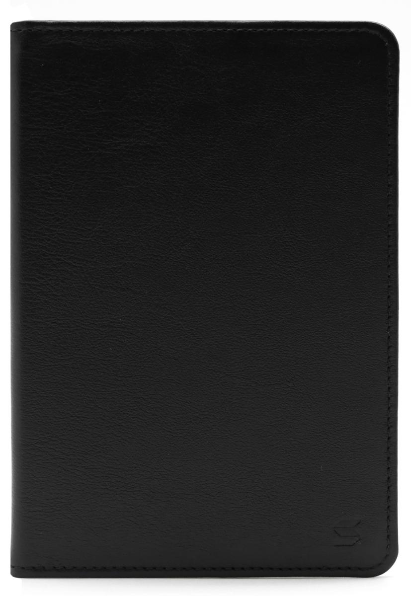 Обложка для паспорта Soltan, цвет: черный. 010 01 01010 01 01Обложка для паспорта SOLTAN из натуральной кожи черного цвета, внутри удобные широкие поля.
