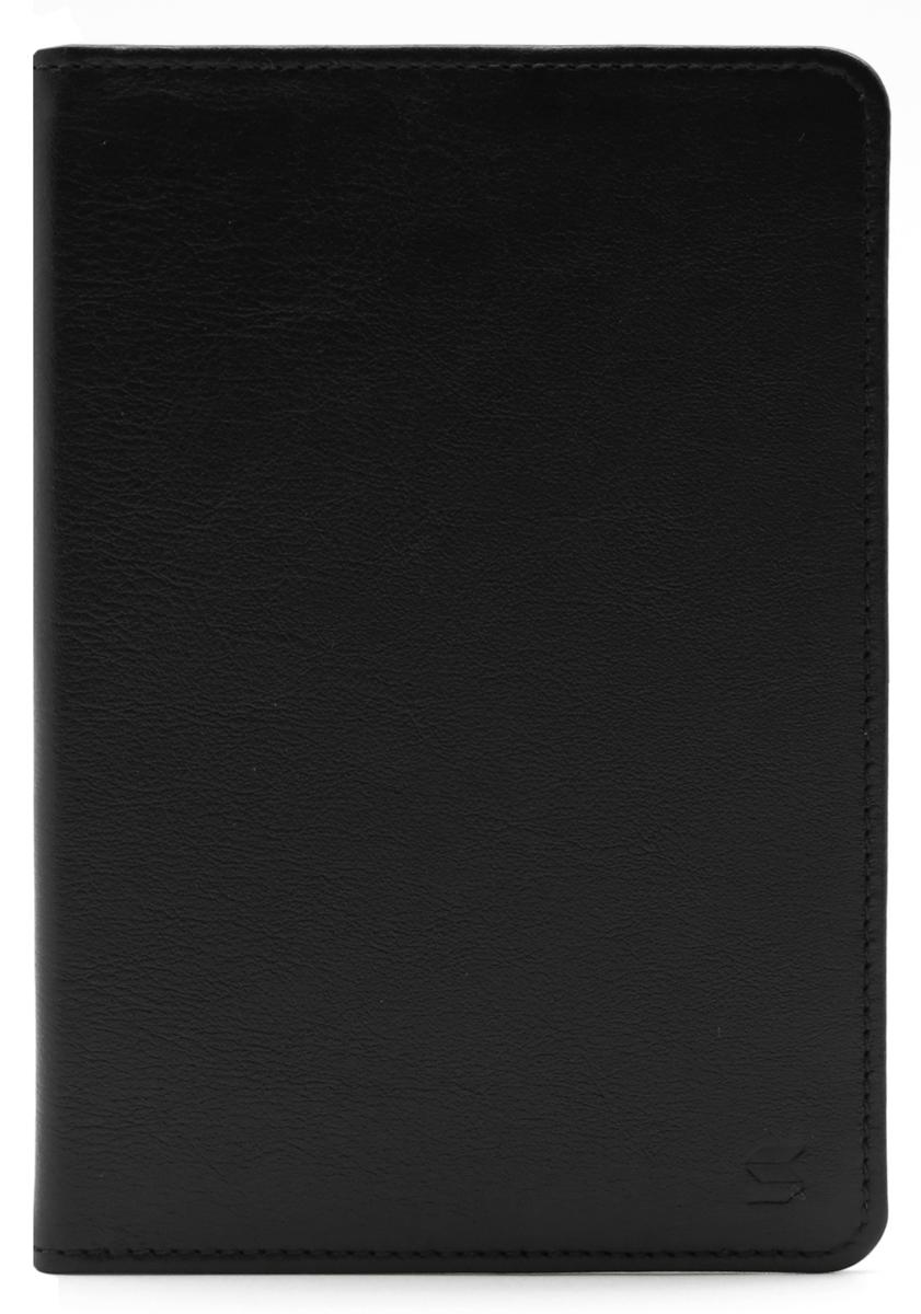 Обложка для паспорта Soltan, цвет: черный. 011 01 01011 01 01Обложка для паспорта SOLTAN из натуральной кожи черного цвета, внутри карман для кредитки/водительского удостоверения