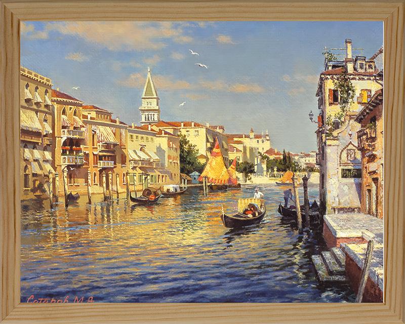 Картина Postermarket Вид на колокольню Сан-Марко, 20 х 25 см. МС-05МС-05