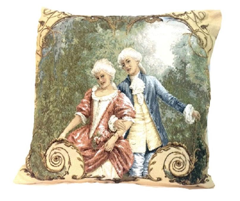 Подушка декоративная Рапира Урок обольщения, 45 х 45 см4511Декоративная подушка с наполнителем холлофайбер со съёмным чехлом на молнии, выполненным из жаккарда, - это яркий штрих в интерьере комнаты. Лицевая сторона - гобелен (жаккардовое ткачество), оборотная сторона - однотонная ткань типа плюш.
