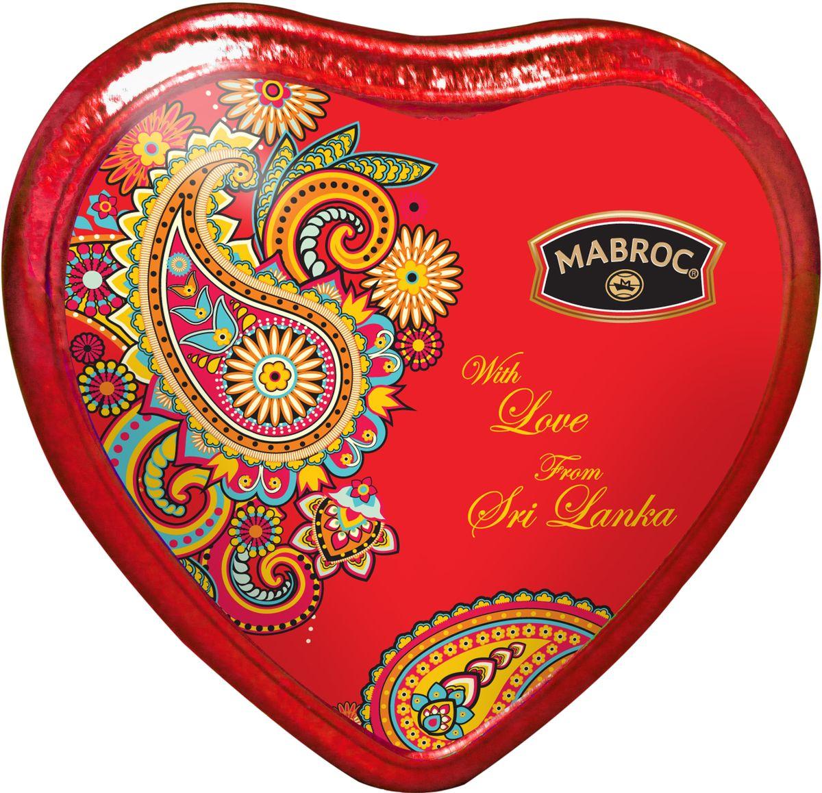Маброк из Шри-Ланки с любовью чай черный листовой, 30 г4791029013763ТМ «Маброк», коллекция «Подарочный Чай». Из Шри-Ланки с Любовью. Подарочная упаковка изготовлена в форме сердца из металла . Производитель: Mabroc Teas, Шри-Ланка, Состав: 100% цейлонский чай. Стандарт: FBOP Для чая FBOP собирают два верхних молодых листочка и нераспустившуюся почку. Почки (типсы) придают чаю особый тонкий цветочный вкус. Чай FBOP среднелистовой и быстро заваривается, дает более крепкий настой. Яркий, прозрачный, интенсивный, настой. Вкус полный, терпкий, слегка вяжущий. Аромат чая полный, приятный, выражен достаточно ярко.