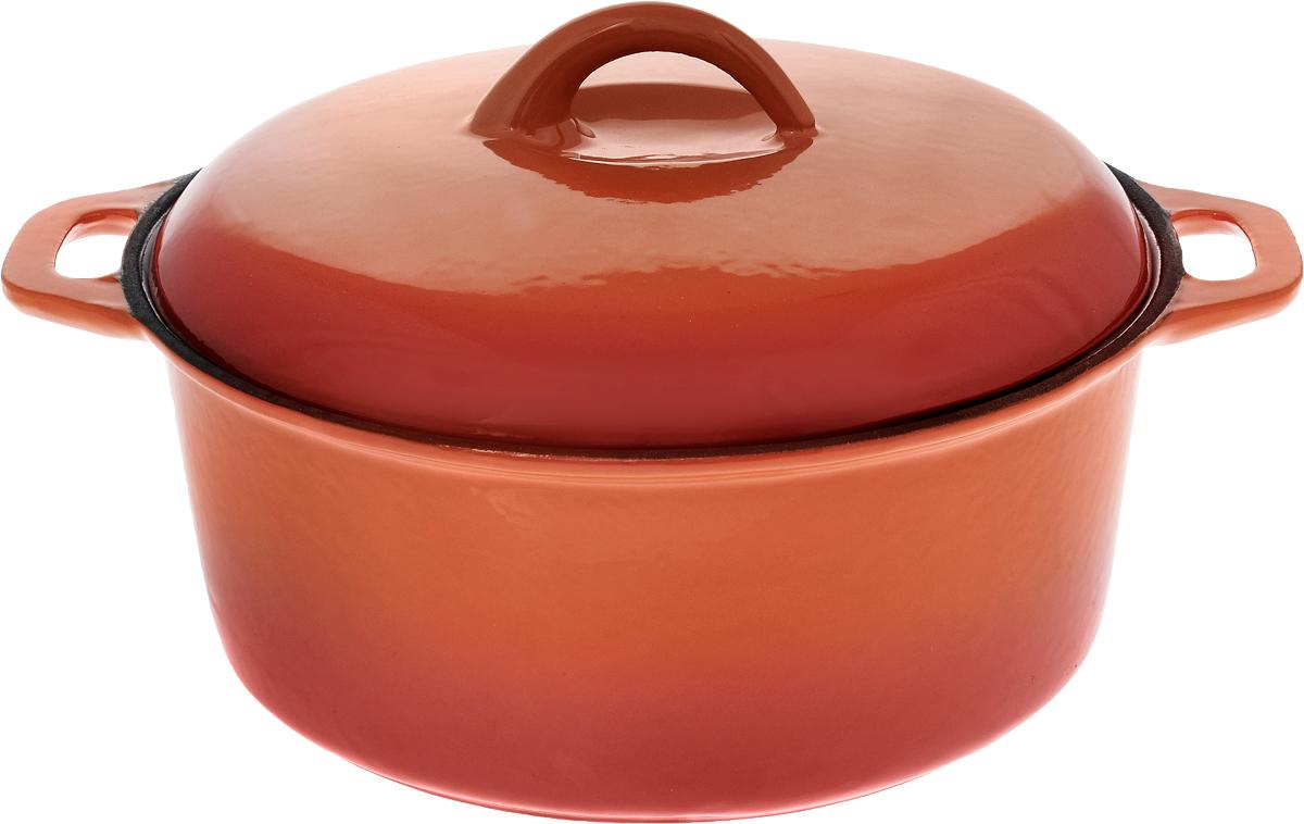 Кастрюля эмалированная Myron Cook с крышкой, 3 лHE5103EКастрюля эмалированная с крышкой Myron Cook — высококачественное изделие, которое превратит процесс приготовления блюд в настоящий праздник. Кастрюля изготовлена из чугуна, отличающегося долговечностью и прочностью. Эмалированное покрытие предотвращает пригорание пищи, способствуя равномерному и плавному нагреву дна и стенок. Помимо этого, оно значительно облегчает очищение кастрюли. Кастрюля идеально подойдет для приготовления самых различных блюд. Пища в ней сохранит свой неповторимый вкус, аромат и сочность. Чугунная крышка формирует в емкости оптимальную температуру для равномерного и быстрого приготовления продуктов. Надежные рукоятки также выполнены из чугуна. Кастрюля представлена в яркой солнечной расцветке, благодаря чему она станет настоящим украшением кухни. Подходит для газовых, электрических, стеклокерамических и индукционных плит. Можно мыть в посудомоечной машине. Размер кастрюли (без учета крышки): 30 х 24,5 х...