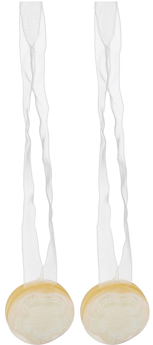 Подхват для штор TexRepublic Ajur. Lenta, на магнитах, цвет: слоновая кость, диаметр 4 см, 2 шт. 7902179021Изящный подхват для штор TexRepublic Ajur. Lenta, выполненный из пластика и текстиля, можно использовать как держатель для штор или для формирования декоративных складок на ткани. С его помощью можно зафиксировать шторы или скрепить их, придать им требуемое положение, сделать симметричные складки. Благодаря магнитам подхват легко надевается и снимается. Подхват для штор является универсальным изделием, которое превосходно подойдет для любых видов штор. Подхваты придадут шторам восхитительный, стильный внешний вид и добавят уют в интерьер помещения. Длина подхвата: 36 см. Диаметр: 4 см. Количество: 2 шт.