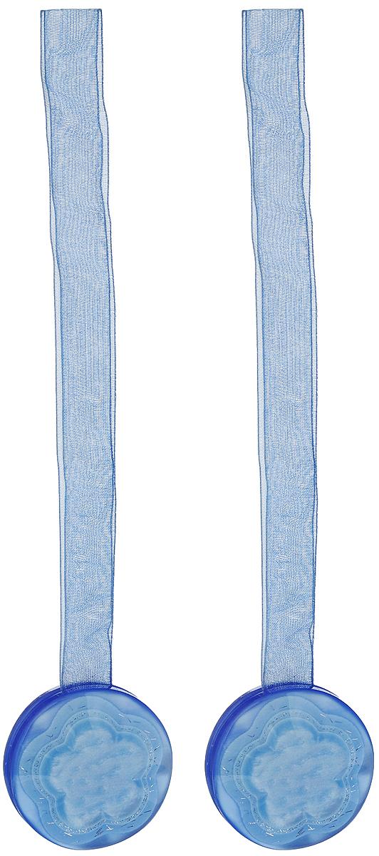 Подхват для штор TexRepublic Ajur. Lenta, на магнитах, цвет: синий, диаметр 4 см, 2 шт. 7902279022Изящный подхват для штор TexRepublic Ajur. Lenta, выполненный из пластика и текстиля, можно использовать как держатель для штор или для формирования декоративных складок на ткани. С его помощью можно зафиксировать шторы или скрепить их, придать им требуемое положение, сделать симметричные складки. Благодаря магнитам подхват легко надевается и снимается. Подхват для штор является универсальным изделием, которое превосходно подойдет для любых видов штор. Подхваты придадут шторам восхитительный, стильный внешний вид и добавят уют в интерьер помещения. Длина подхвата: 36 см. Диаметр: 4 см. Количество: 2 шт.