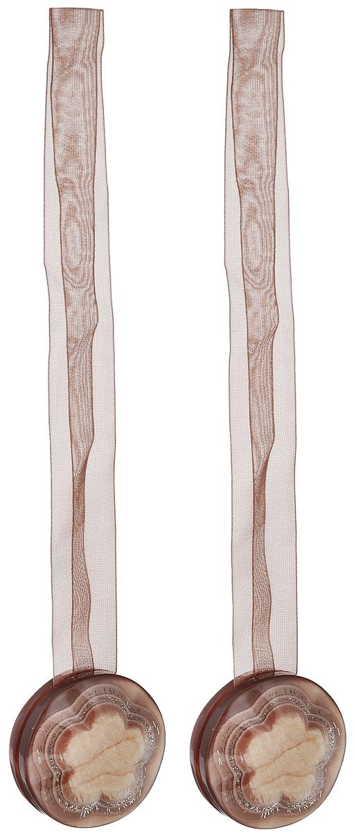 Подхват для штор TexRepublic Ajur. Lenta, на магнитах, цвет: коричневый, 2 шт. 7902379023Изящный подхват для штор TexRepublic Ajur. Lenta, выполненный из пластика и текстиля, можно использовать как держатель для штор или для формирования декоративных складок на ткани. С его помощью можно зафиксировать шторы или скрепить их, придать им требуемое положение, сделать симметричные складки. Благодаря магнитам подхват легко надевается и снимается. Подхват для штор является универсальным изделием, которое превосходно подойдет для любых видов штор. Подхваты придадут шторам восхитительный, стильный внешний вид и добавят уют в интерьер помещения. Длина подхвата: 37 см. Количество: 2 шт.