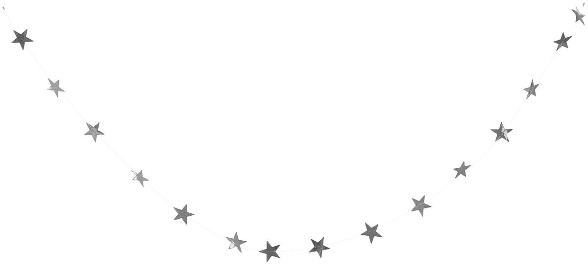 Гирлянда декоративная Winter Wings Звездочки, цвет: серебряный, 8 см х 2,7 мN09163_серебряныйНовогодняя декоративная растяжка Winter Wings Звездочки прекрасно подойдет для декора дома и праздничной елки. Украшение выполнено из ПВХ. С помощью пластиковых колец растяжку можно повесить в любом понравившемся вам месте. Новогодние украшения несут в себе волшебство и красоту праздника. Они помогут вам украсить дом к предстоящим праздникам и оживить интерьер по вашему вкусу. Создайте в доме атмосферу тепла, веселья и радости, украшая его всей семьей.