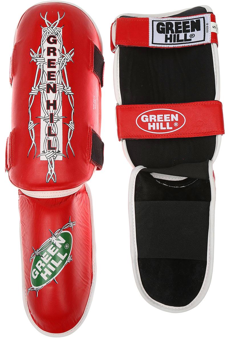 Защита голени и стопы Green Hill Barb, цвет: красный, белый. Размер S. SIB-0016SIB-0016Защита голени и стопы Green Hill Barb необходима при занятиях спортом для защиты пальцев и суставов от вывихов, ушибов и прочих повреждений. Выполнена из высококачественной натуральной кожи. Наполнитель из пенополиуретана средней жесткости обеспечивает умеренно жесткий удар и предотвращает травмы голени и стопы. Защита закрепляется при помощи ремней на липучках. Защита правильно подобранного размера надежно сидит на ноге, не спадает и не сваливается во время поединка. Длина голени: 31,5 см. Ширина голени: 15 см. Длина стопы: 19 см. Ширина стопы: 11 см.