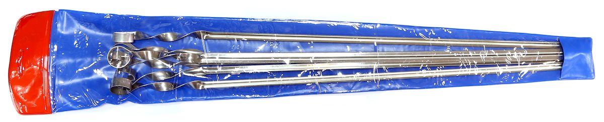 Набор шампуров Image, угловые, в чехле, длина 56 см, 6 шт350313Набор угловых шампуров изготовленных из высококачественной нержавеющей стали. В комплект входит 6 шампуров 560 х 11 х 1 мм.+ виниловый чехол. для хранения.