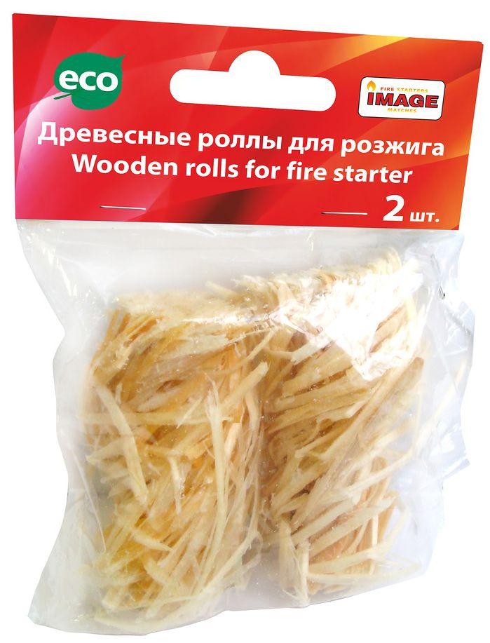 Роллы для розжига Image, 2 шт40489Время горения 1 шт – от 8 до 12мин. Используется для разжигания каминов, шашлычниц, барбекю, топок, грилей, мангалов, для розжига огня на открытом воздухе и специально оборудованных местах. Ролл моментально разгорается за счет наличия кислорода между волокнами древесины. Пламя очень высокое, чистое, активное, без копоти и запаха. Сохраняет свои свойства и после намокания. Состав: стружечная древесина, картон, ПЭТ пакет, пропитка.