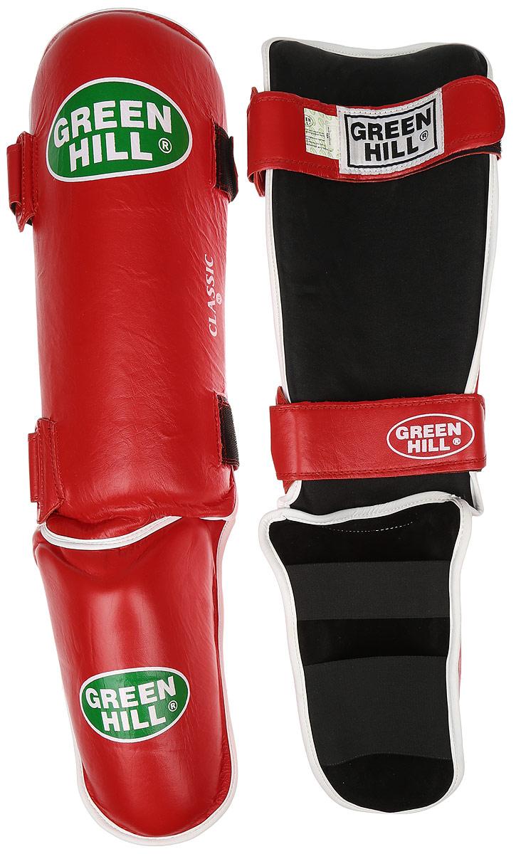 Защита голени и стопы Green Hill Classic, цвет: красный, белый. Размер XL. SIC-0019SIC-0019Защита голени и стопы Green Hill Classic с наполнителем, выполненным из вспененного полимера, необходима при занятиях спортом для защиты пальцев и суставов от вывихов, ушибов и прочих повреждений. Накладки выполнены из высококачественной натуральной кожи. Они надежно фиксируются за счет ленты и липучек. Удобные и эргономичные накладки Green Hill Classic идеально подойдут для занятий тхэквондо и другими видами единоборств. Длина голени: 37 см. Ширина голени: 16 см. Длина стопы: 21 см. Ширина стопы: 12 см.
