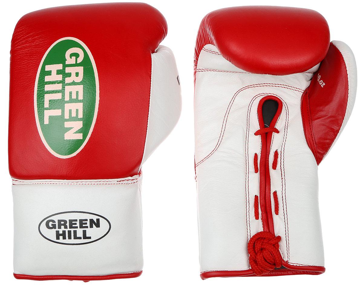 Перчатки боксерские Green Hill Dove, цвет: красный, белый. Размер 10 унций. BGD-2050BGD-2050Боксерские перчатки Green Hill Dove предназначены для использования профессионалами. Оснащены антинакаутной системой. Верх выполнен из натуральной кожи, наполнитель - из вспененного полимера. Отверстие в области ладони позволяет создать максимально комфортный терморежим во время занятий. Манжет на шнуровке способствует быстрому и удобному надеванию перчаток, плотно фиксирует перчатки на руке.