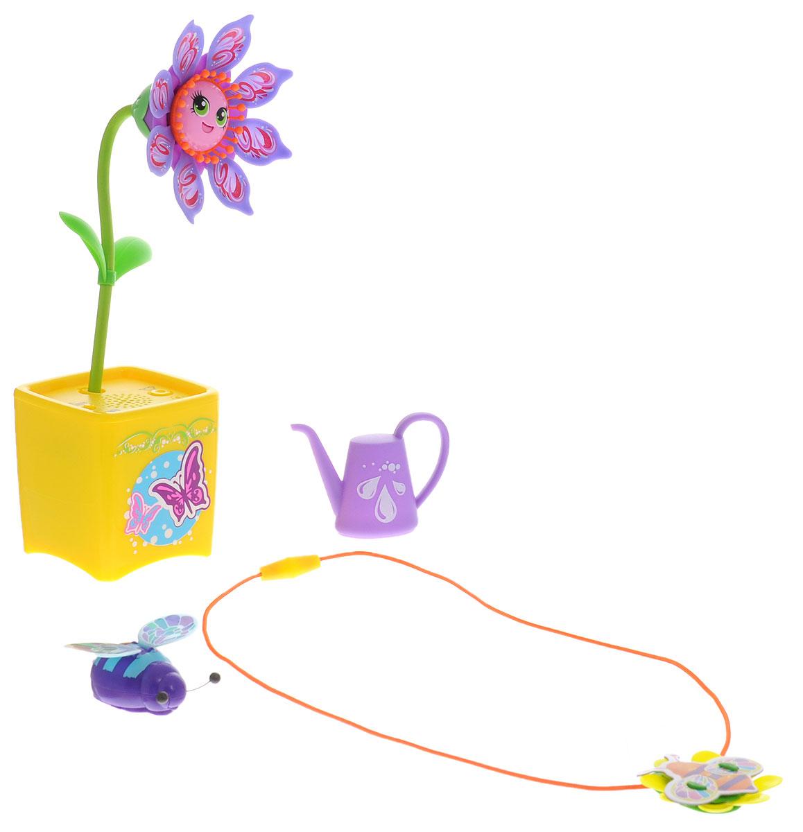 Magic Blooms Интерактивная игрушка Волшебный цветок с ожерельем и волшебным жучком88446Интерактивная игрушка Magic Blooms Волшебный цветок с ожерельем и волшебным жучком станет отличным подарком для каждой девочки! Интерактивный цветок может петь и танцевать, двигаться в такт мелодии. Цветочек реагирует на прикосновения и голос. Имеет функцию повтора слов. Цветочек может быть дополнен забавными жучками, что расширяет функционал. Необходимо дотронуться до антенны жучка (в виде усиков), чтобы услышать жужжание и увидеть, как жучок машет крыльями. Пение жучка сопровождается световыми эффектами. Соединив несколько цветов, можно устроить цветочный хор. Цветочки могут раскачиваться, а также двигать лепестками и открывать рот. В набор входят цветочек, лейка, жучок и ожерелье. Для работы цветочка рекомендуется докупить 3 батарейки типа AAA (комплектуется демонстрационными). Для работы жучка рекомендуется докупить 2 батарейки типа LR44 (комплектуется демонстрационными).