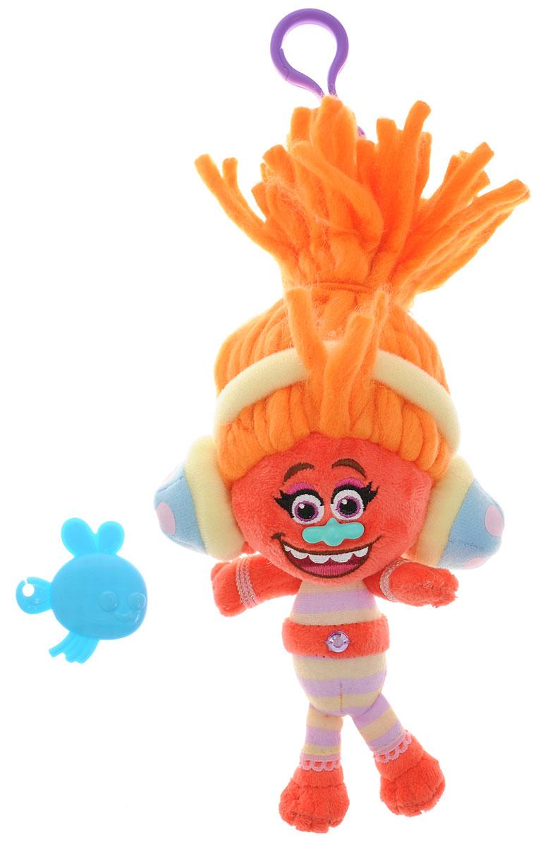 Zuru Брелок Тролль DJ Suki 62026202_оранжевыйБрелок Тролль Zuru DJ Suki непременно привлечет внимание вашей малышки. DJ Suki - это девочка-тролль с ярко-оранжевыми волосами и милой улыбкой. Игрушка выполнена в виде брелока, которым можно украсить сумку или портфель. Игрушка с практичным пластиковым карабином на прочном шнурке. В наборе с брелоком имеется расческа, с помощью которой можно ухаживать за роскошной прической тролля. Милые, улыбчивые и очень доброжелательные существа из нового мультфильма Тролли выглядят очень ярко и эффектно. Колоритные персонажи мультфильма отличаются не только яркой внешностью и роскошными, торчащими вверх волосами, но и добрым характером. В свободное время тролли беззаботно веселятся, танцуют и поют песни, а в минуты опасности объединяют свои усилия и смело преодолевают жизненные трудности.