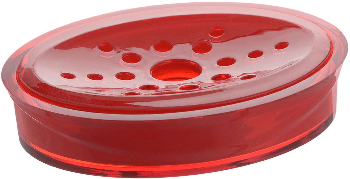 Мыльница Indecor, цвет: красный, 11,5 х 9 х 3 смIND017rОвальная мыльница Indecor изготовлена из высококачественного пластика. Особая конструкция позволяет мылу не таять. Легко чистится. Такая мыльница прекрасно подойдет для ванной комнаты или кухни. Мыльница Indecor создаст особую атмосферу уюта и максимального комфорта в ванной. Размер мыльницы: 11,5 х 9 х 3 см.