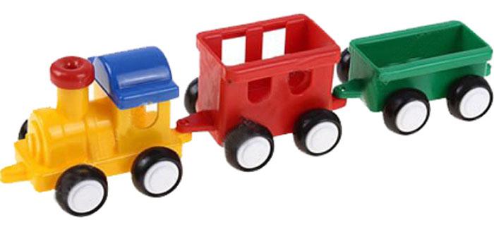 Форма Паровозик Детский сад цвет желтый красный зеленыйС-57-Ф_желтый, красный, зеленыйПаровозик Форма Детский сад - это яркий и абсолютно безопасный паровозик, выполненный из прочных материалов. Паровозик с двумя вагонами обязательно порадует малыша и станет замечательным подарком для юного железнодорожника. Паровоз и два вагона крепко сцеплены друг с другом, имеют широкие нескользящие колеса, благодаря которым не будут буксовать даже на гладкой поверхности. В паровоз и вагоны можно посадить маленькие фигурки.