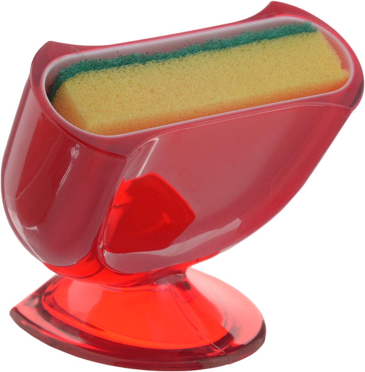 Подставка для губки Indecor, с губкой, цвет: красный, 11,5 х 8 х 10 смIND021rПодставка для губки Indecor выполнена из пластика. Она сохранит порядок и чистоту вокруг раковины. Очень удобна в использовании. Также в комплект входит поролоновая губка. Подставка для губки Indecor - интересное и оригинальное украшение вашей кухни. Размер подставки: 11,5 х 8 х 10 см. Размер губки: 9,5 х 2,5 х 5,5 см.