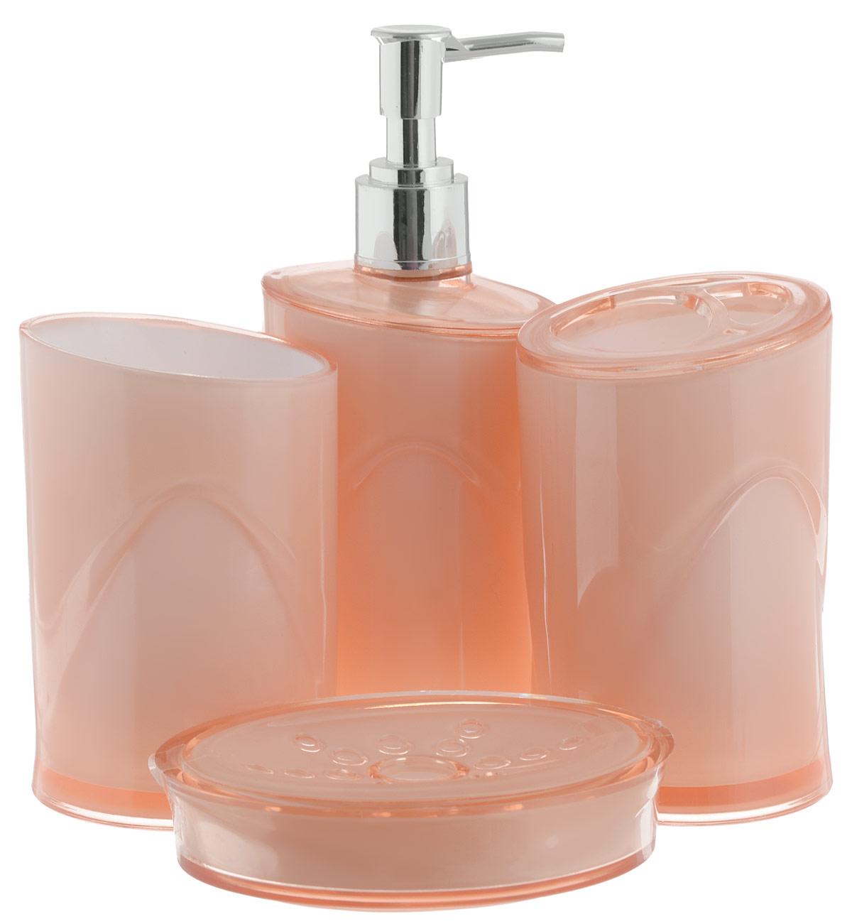Набор для ванной комнаты Indecor, цвет: бежевый, 4 предметаIND053bНабор для ванной комнаты Indecor состоит из стакана, стакана для зубных щеток, дозатора для жидкого мыла и мыльницы. Стаканы, дозатор и мыльница изготовлены из высококачественного пластика. Аксессуары, входящие в набор Indecor, выполняют не только практическую, но и декоративную функцию. Они способны внести в помещение изысканность, сделать пребывание в нем приятным и даже незабываемым. Размер стаканов: 7 х 7 х 11 см. Объем стаканов: 300 мл. Размер дозатора: 7 х 7 х 17,5 см. Объем дозатора: 300 мл. Размер мыльницы: 11,5 х 9 х 3 см.