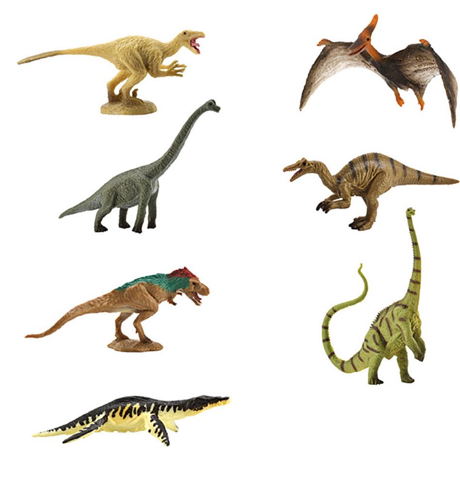 Collecta Набор фигурок Динозавры 7 шт A1134A1134Набор фигурок Collecta Динозавры познакомит вашего ребенка с окружающим миром. В набор входят семь фигурок динозавров (тираннозавр, велоцираптор, брахиозавр, барионикс, птеранодон, лиоплевродон, диплодок), которые имеют высокую степень сходства с настоящими животными и высокую детализацию, что позволяет использовать фигурки не только как игровые, но и как коллекционные. Фигурки изготовлены из качественного материала, не токсичны и не вызывают аллергию.