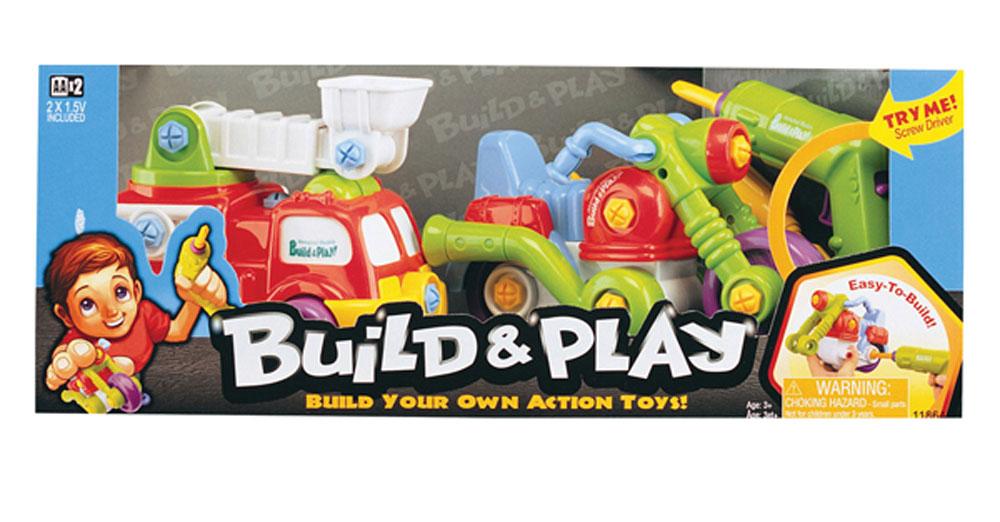 Keenway Конструктор Подъемник и мотоцикл11864Мальчишки - неутомимые исследователи. Как же им интересно понять, из чего собраны те или иные вещи! Конструктор Keenway Подъемник и мотоцикл является представителем серии Build & Play, и каждый мальчик будет рад получить его в подарок. Подъемник и мотоцикл - это не просто игрушки. Это настоящий развивающий конструктор для мальчиков. Ребенок сможет самостоятельно собрать и разобрать модели, используя инструменты, входящие в состав набора, а именно шуруповерт, который подобно настоящему работает от батареек и способен подарить ребенку истинную радость от осознания силы, которую он держит в своих руках, и отвертка. Также в комплектации находится несколько универсальных насадок - две отвертки и накидной ключ. Собранные модели абсолютно функциональны. Например, ковш на подъемнике является подвижным - его можно повернуть в любую сторону, а у мотоцикла вибрируют выхлопные трубы, как у настоящего. Шурупы, которые используются в наборе, отличаются удобством, поэтому даже детские...
