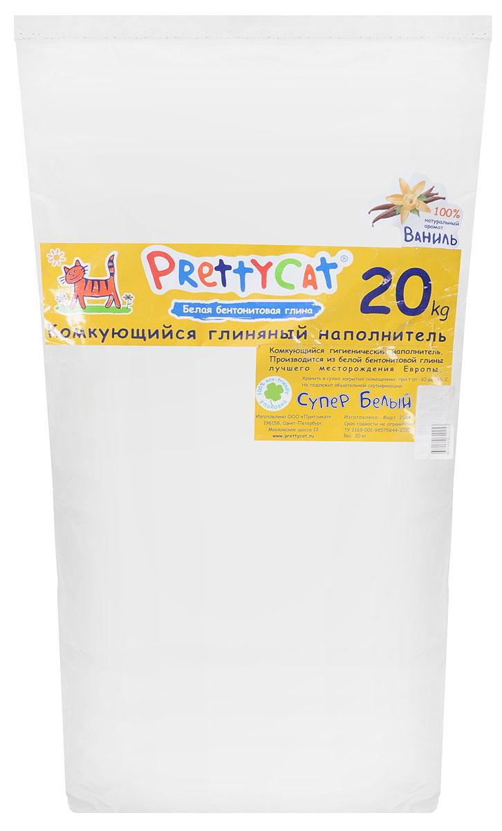 Наполнитель для кошачьих туалетов PrettyCat Супер белый, комкующийся, с ароматом ванили, 20 кг620253Наполнитель для кошачьих туалетов PrettyCat Супер белый - это 100% натуральный комкующийся наполнитель. Изготовлен из белой бентонитовой глины лучшего европейского качества. Впитывает до 400% влаги, прекрасно комкуется в идеально ровные шарики. Благодаря способности моментально образовывать крепкие комки, он обеспечит необходимую гигиену в кошачьем туалете, а также значительно упростит процесс уборки. Наполнитель изготовлен из экологически чистого материала, поэтому будет напоминать вашему питомцу о естественной среде обитания, а вам не доставит лишних хлопот по уходу за своим любимцем. Приятный аромат ванили создаст дополнительное ощущение свежести при использовании. Состав: белая бентонитовая глина. Вес: 20 кг. Товар сертифицирован.