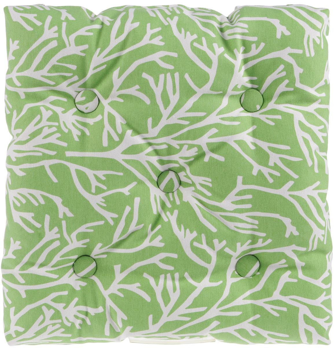 Подушка на стул KauffOrt Австралия, цвет: зеленый, 40 x 40 см3121751140Подушка на стул KauffOrt Австралия не только красиво дополнит интерьер кухни, но и обеспечит комфорт при сидении. Чехол выполнен из хлопка и полиэстера, а наполнитель из холлофайбера. Подушка легко крепится на стул с помощью завязок. Правильно сидеть - значит сохранить здоровье на долгие годы. Жесткие сидения подвергают наше здоровье опасности. Подушка с мягким наполнителем поможет предотвратить большинство нежелательных последствий сидячего образа жизни. Толщина подушки: 10 см.