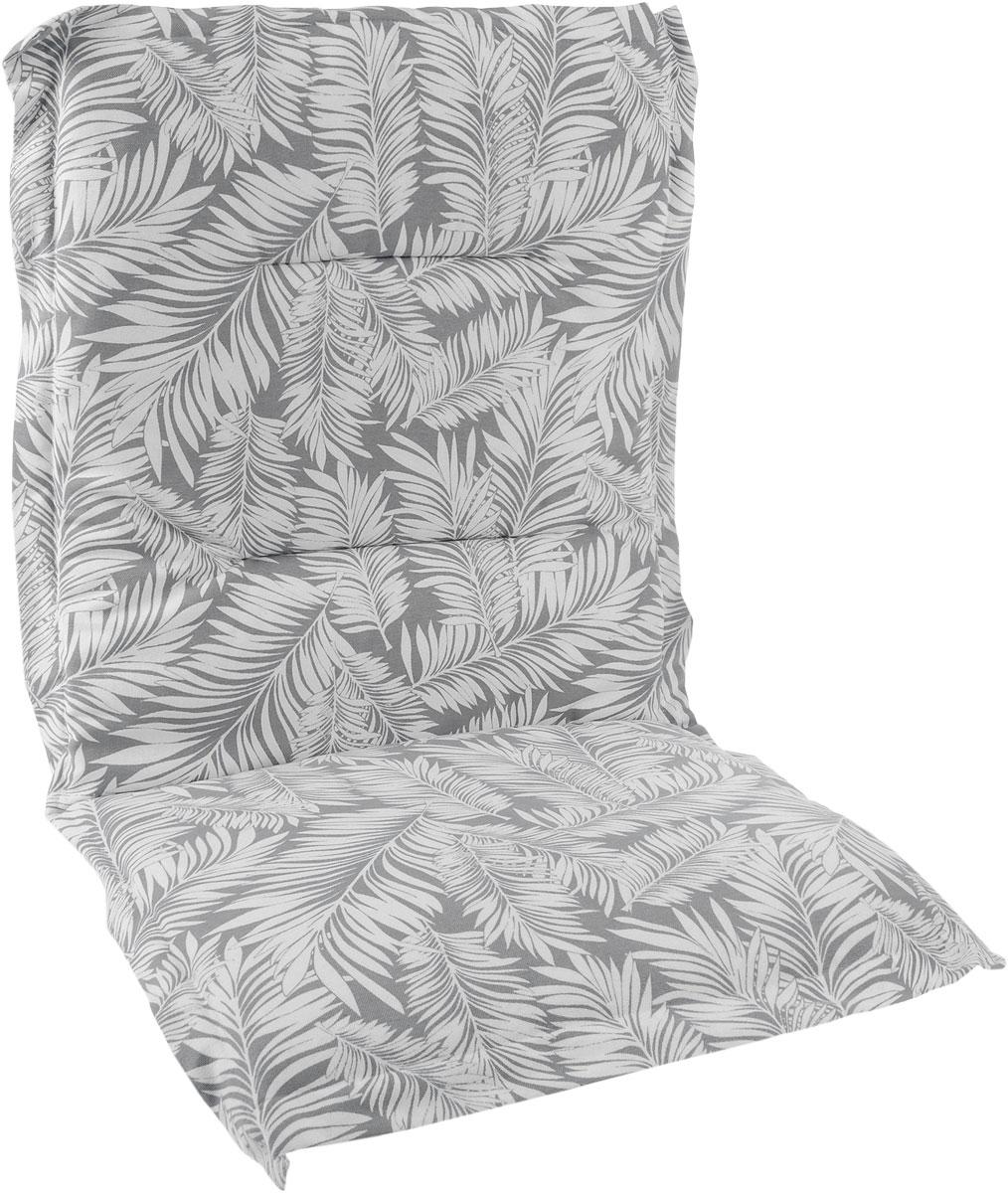 Подушка на стул KauffOrt Пальма, со спинкой, 50 x 100 см3125082100Подушка на стул KauffOrt Пальма не только красиво дополнит интерьер кухни, но и обеспечит комфорт при сидении. Чехол выполнен из поликоттона (хлопок и полиэстер) и украшен принтом. Внутри - мягкий наполнитель из поролона. Подушка легко крепится на стул с помощью завязок и резинки. Правильно сидеть - значит сохранить здоровье на долгие годы. Жесткие сидения подвергают наше здоровье опасности. Подушка с мягким наполнителем поможет предотвратить многие беды, которыми грозит сидячий образ жизни.
