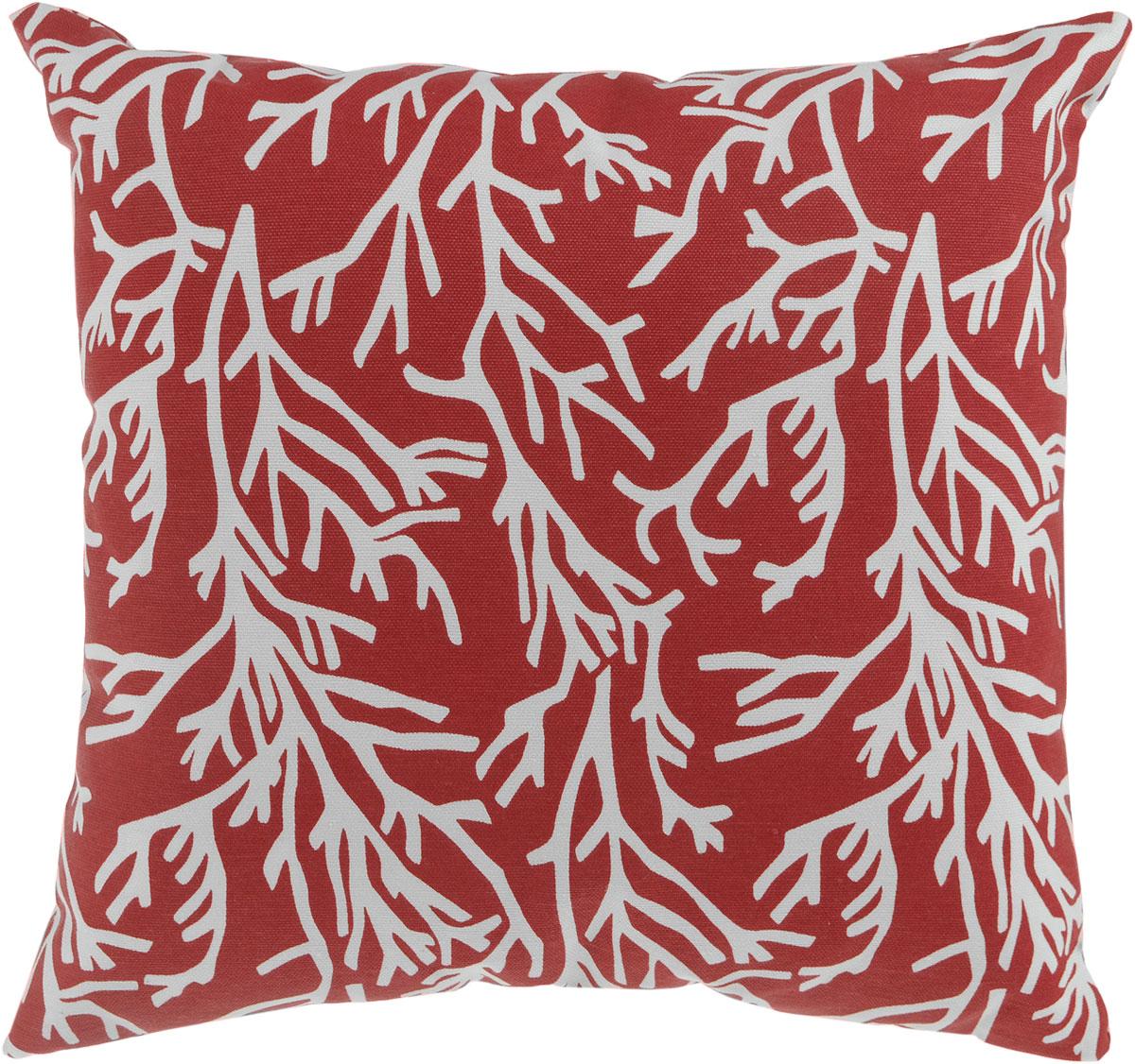 Подушка декоративная KauffOrt Красное море, 40 x 40 см3122913140Декоративная подушка Красное море прекрасно дополнит интерьер спальни или гостиной. Мягкий на ощупь чехол подушки выполнен из 25% полиэстера и 75% хлопка. Внутри находится мягкий наполнитель, выполненный из холлофайбера. Чехол легко снимается благодаря потайной молнии. Красивая подушка создаст атмосферу уюта и комфорта в спальне и станет прекрасным элементом декора.