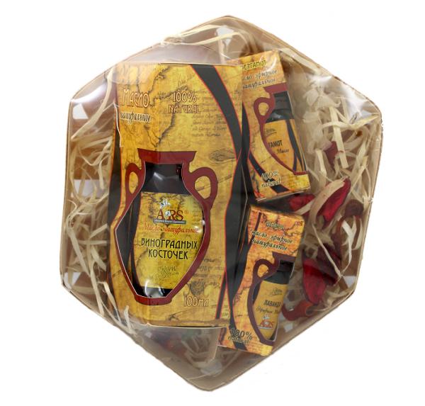 ARS Набор натуральных масел Для жирной кожи лица и телаАрс-122Масло виноградной косточки – глубоко питает, снимает воспаления и нормализует работу сальных желез Эфирное масло лаванды - заживляет, снимает воспаления и покраснения, обладает антисептическим эффектом Эфирное масло бергамота – нормализует секрецию сальных и потовых желез, уменьшает воспаления