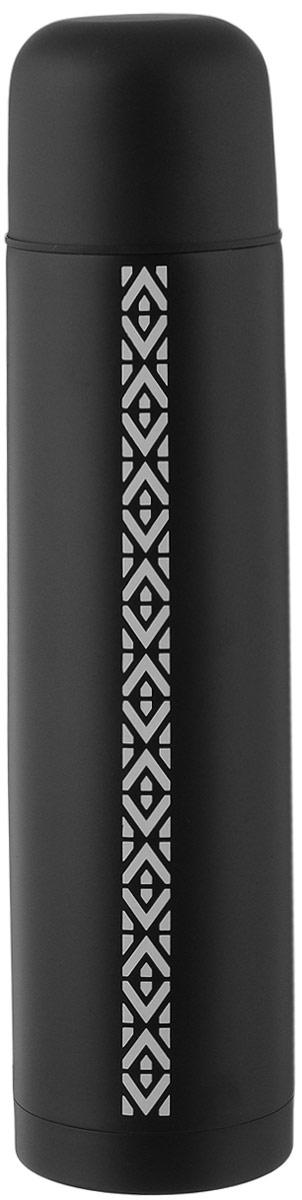 Термос Airline, цвет: черный, белый, 1 лIT-04Термос Airline выполнен из качественной нержавеющей стали, которая не вступает в реакцию с содержимым термоса и не изменяет вкусовых качеств напитка. Двойная стенка из нержавеющей стали сохраняет температуру ваших напитков до 20 часов. Вакуумный закручивающийся клапан предохраняет от проливаний, а удобная кнопка-дозатор избавит от необходимости каждый раз откручивать крышку. Крышку можно использовать как чашку. Цветное покрытие обеспечивает защиту от истирания корпуса. Данная модель термоса прочная, долговечная и в тоже время легкая. Изделие упаковано в удобный чехол. Стильный металлический термос понравится абсолютно всем и впишется в любой интерьер кухни. Не рекомендуется мыть в посудомоечной машине. Диаметр горлышка: 5 см. Диаметр основания термоса: 8 см. Высота термоса: 31 см.