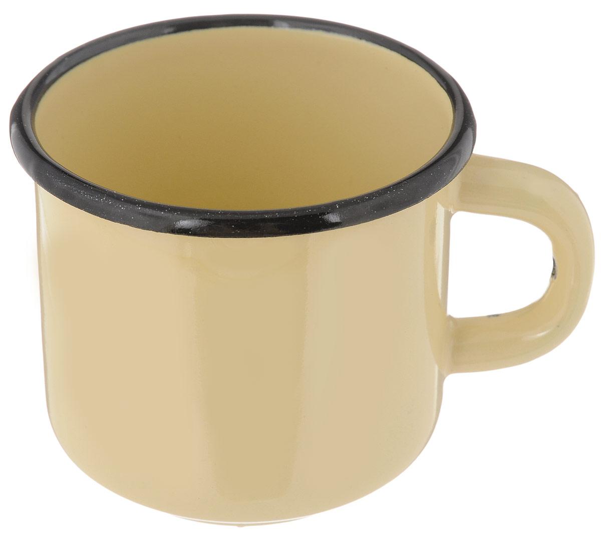 Кружка эмалированная СтальЭмаль, цвет: желтый, 250 млС40102.П_желтыйКружка СтальЭмаль изготовлена из высококачественной стали с эмалированным покрытием. Она оснащена удобной ручкой. Такая кружка не требует особого ухода и ее легко мыть. Благодаря классическому дизайну и удобству в использовании кружка займет достойное место на вашей кухне.